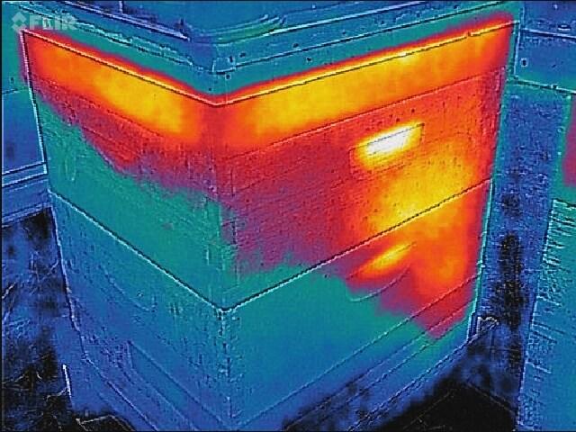 Тепло от кластера в улье